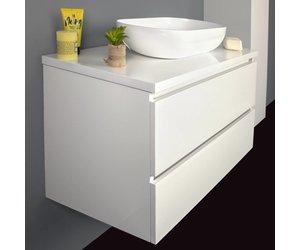 Hoogglans wit badkamermeubel van cm incl waskom en soft close