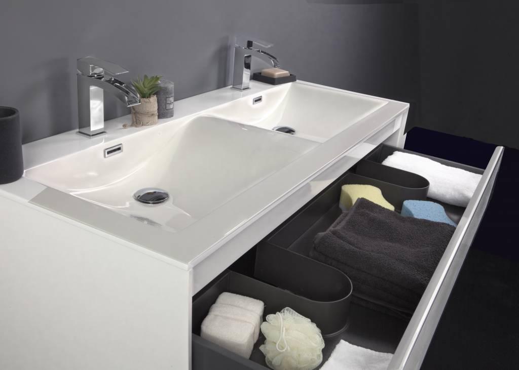 Badkamermeubel inclusief inbouw wastafel personen ocean texel