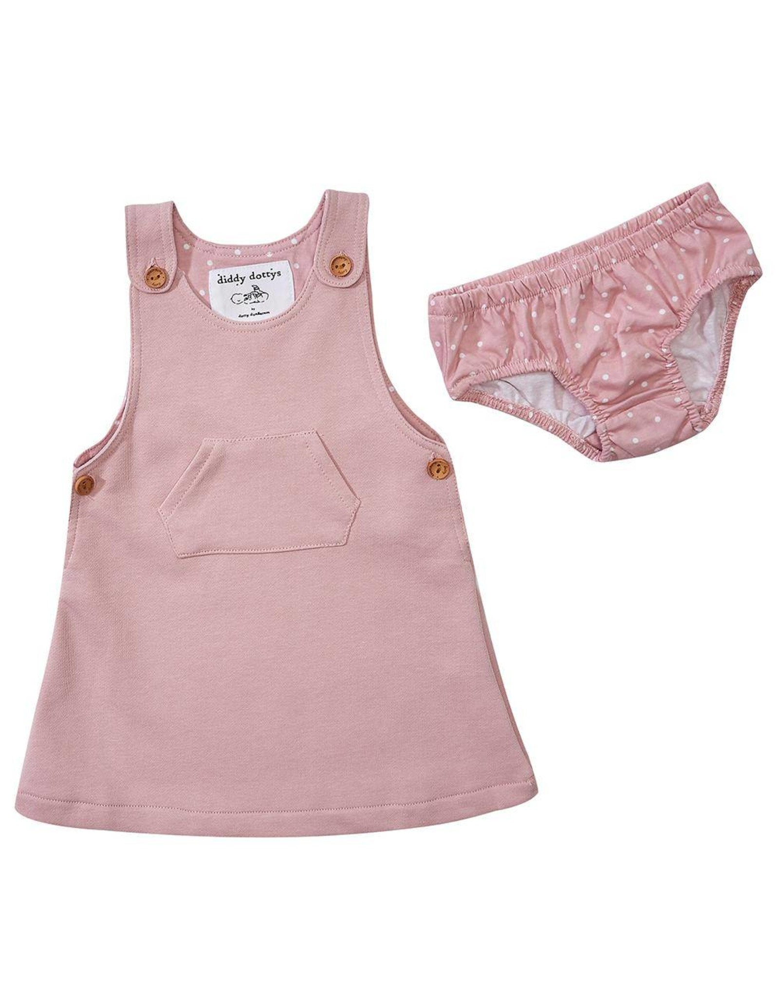 Dotty Dungarees Pink Diddy Dress