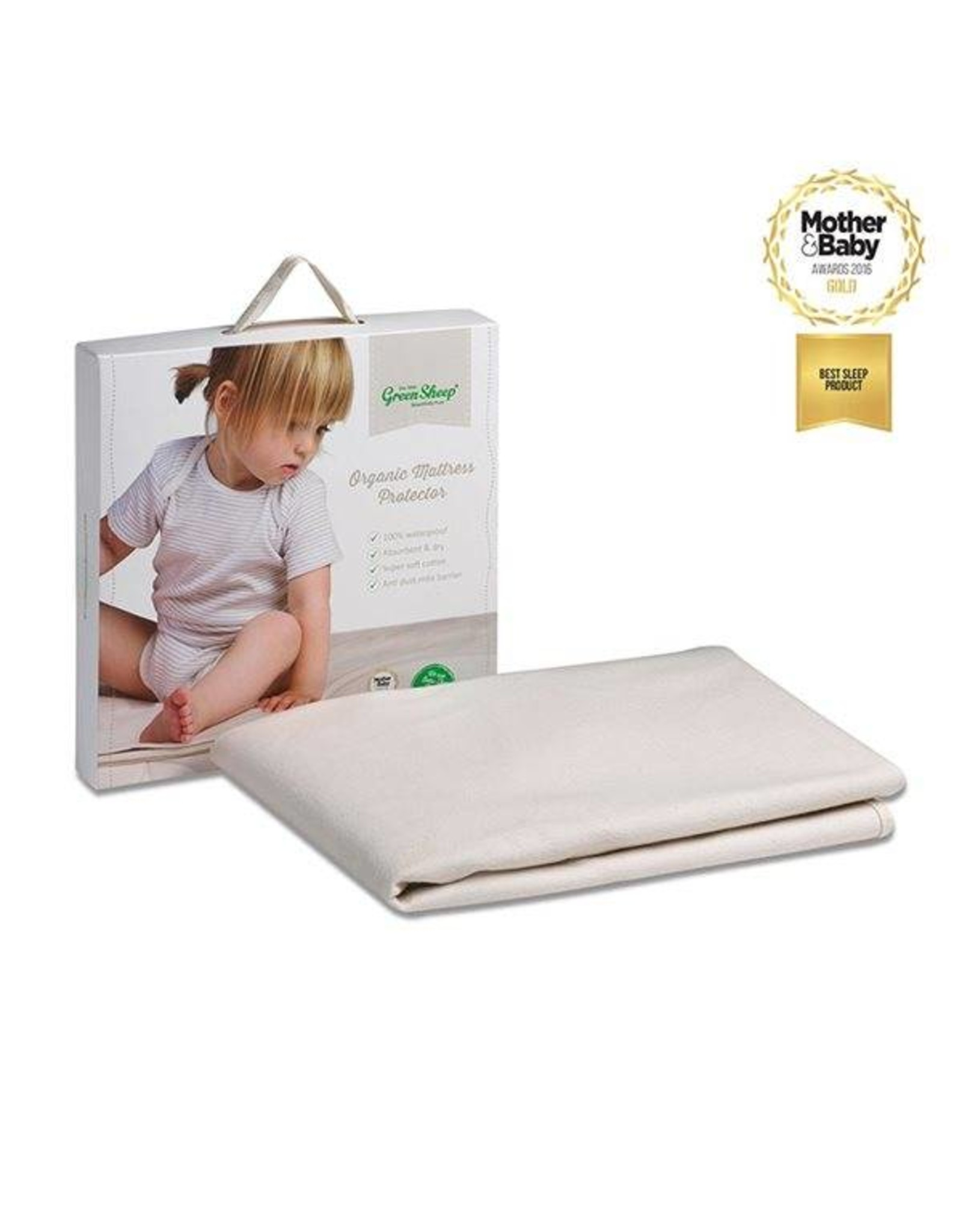 Little Green Sheep Organic Cotbed Mattress Protector- 70x140cm