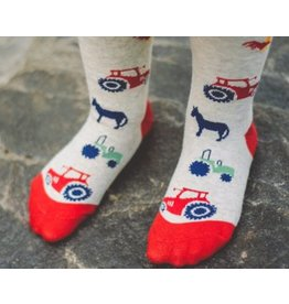 Toucan Blue Tractor Tights - 4-5 Years