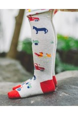 Toucan Blue Tractor Tights- 4-5 Years