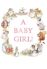 Beatrix Potter New Baby Card