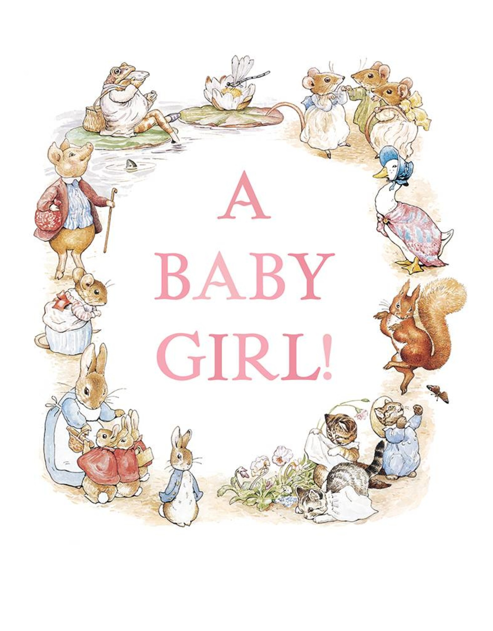 Beatrix Potter New Baby Card
