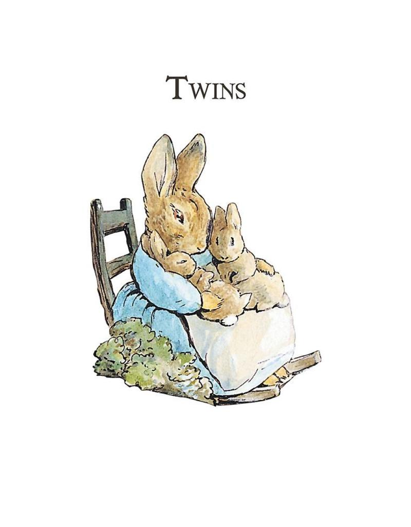 Beatrix Potter New Baby Card  - Twins