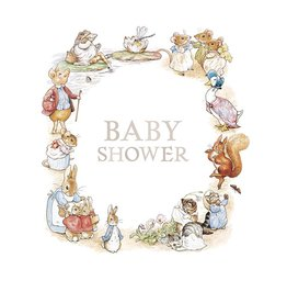 Beatrix Potter Baby Shower Card