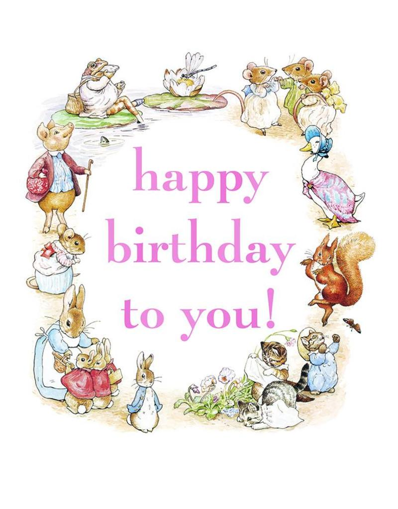 Beatrix Potter Happy Birthday