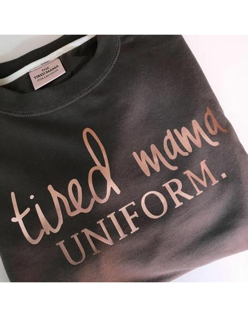 Tired Mama Tired Mama Uniform™ Jumper | Charcoal & Rose Gold