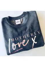 Tired Mama Motherly Love Jumper | Charocoal and Rose Gold