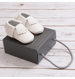 Ruby & Freddies White Baby Moccasin