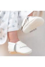Ruby & Freddies White Christening Shoe