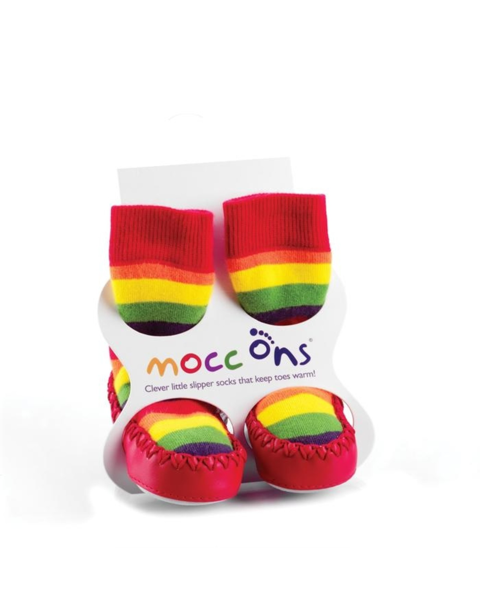 Mocc ons Mocc Ons- Rainbow Stripe