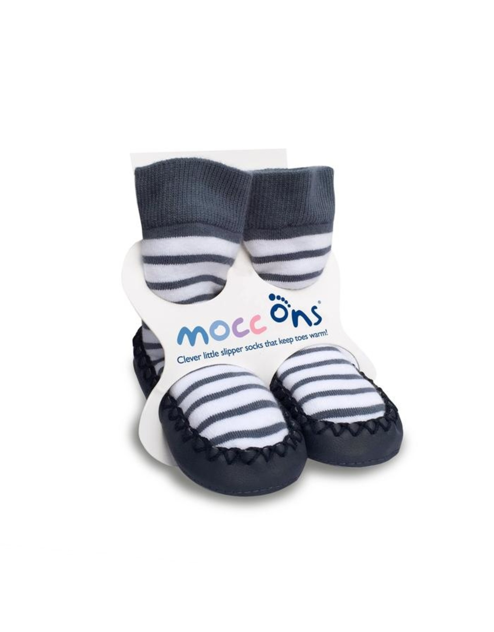 Mocc ons Mocc Ons- Nautical Stripe- 12-18 months