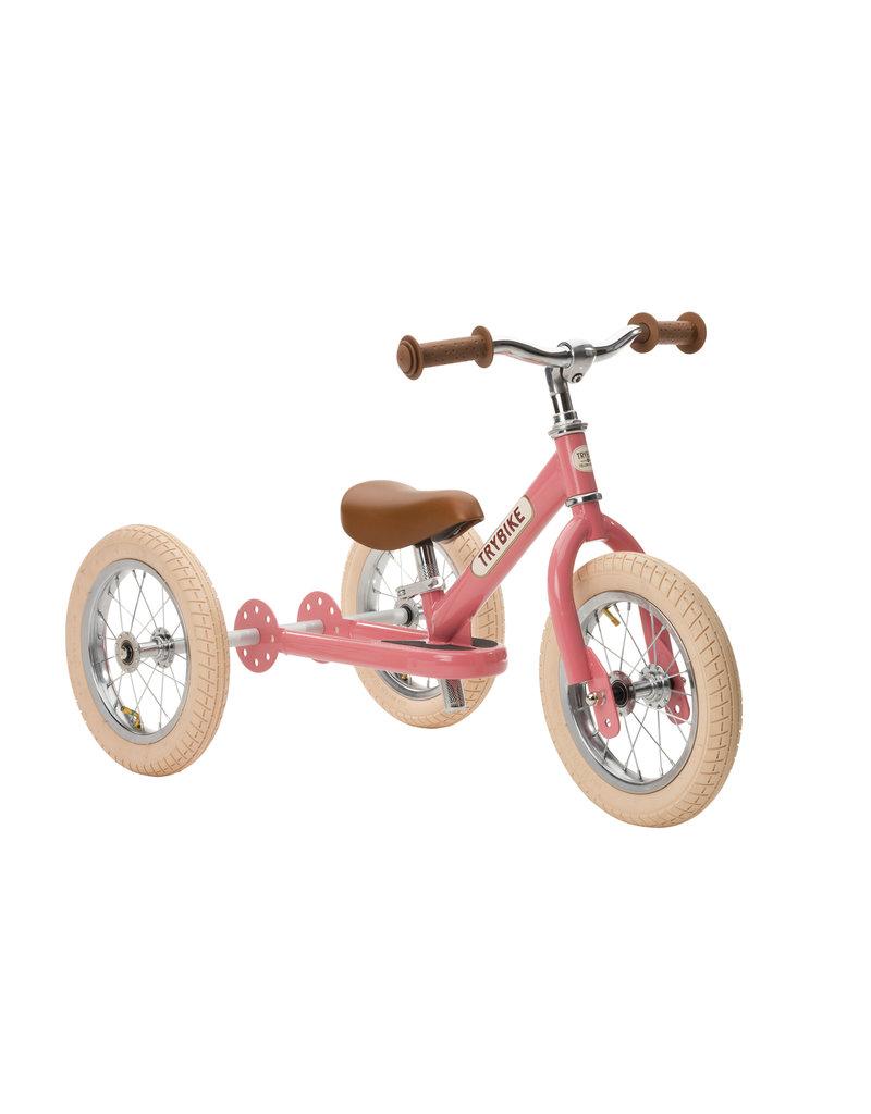 Hippychick Trybike 2-in-1 Steel Vintage -Pink
