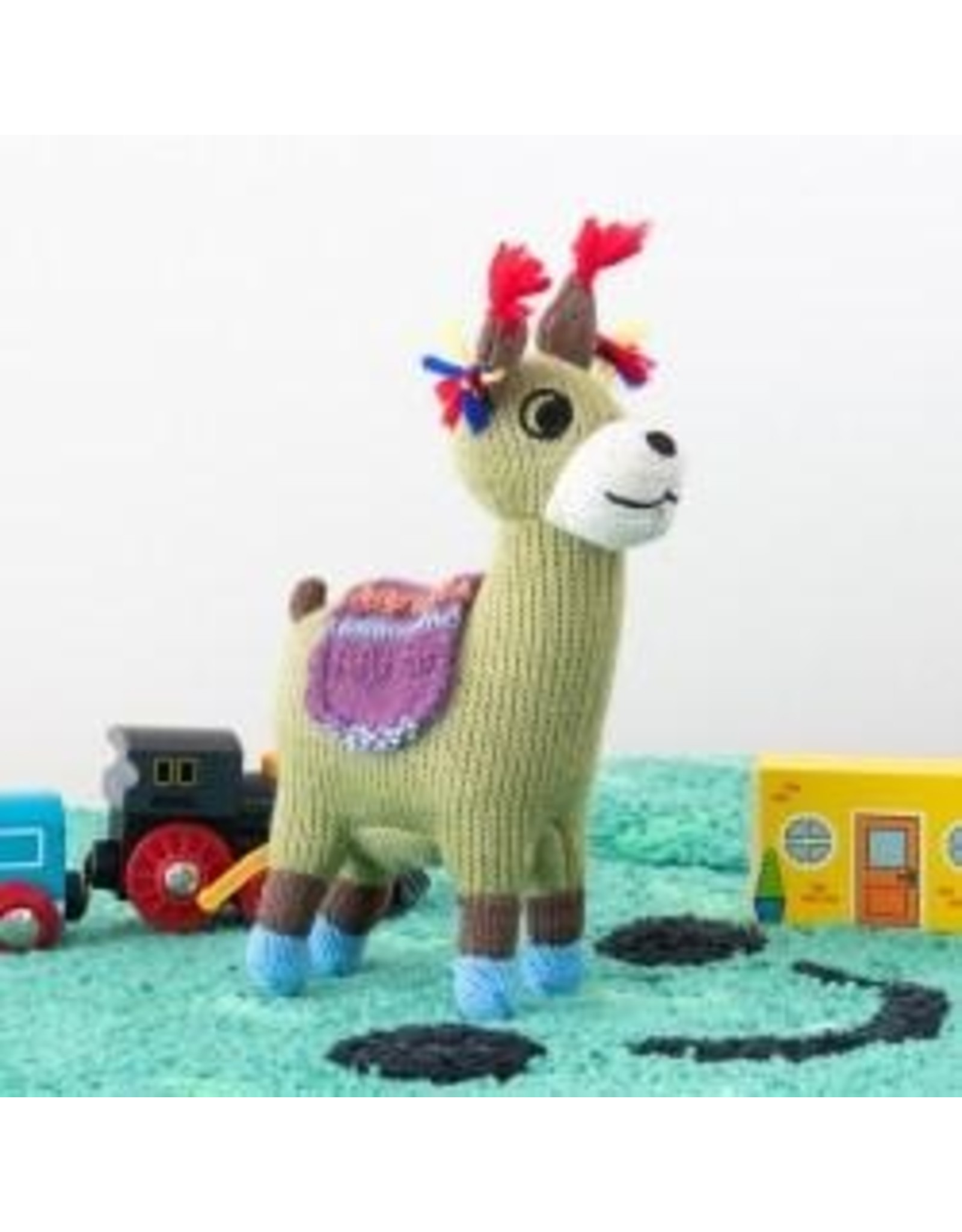Best Years Small Knitted Llama Soft Toy