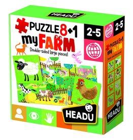 Headu Puzzle 8 + 1 Farm- Age 2-5 Years