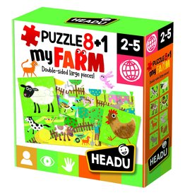 Puzzle 8 + 1 Farm- Age 2-5 Years