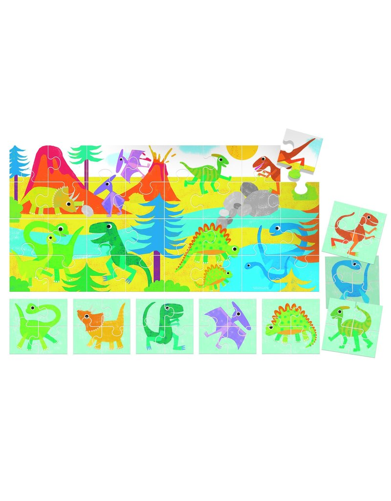Puzzle 8 + 1 Farm Dinosaurs Ages 2-5 Years