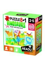 Headu Puzzle 8 + 1 Farm Dinosaurs Ages 2-5 Years