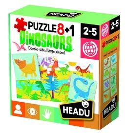 Headu Puzzle 8 + 1 Dinosaurs - Age 2-5 Years