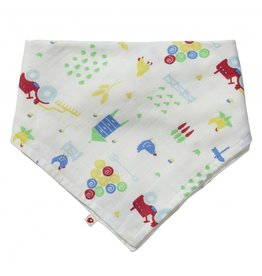 Piccalilly 2-in-1 Muslin Bandana Bib & Burp Cloth - Farmyard
