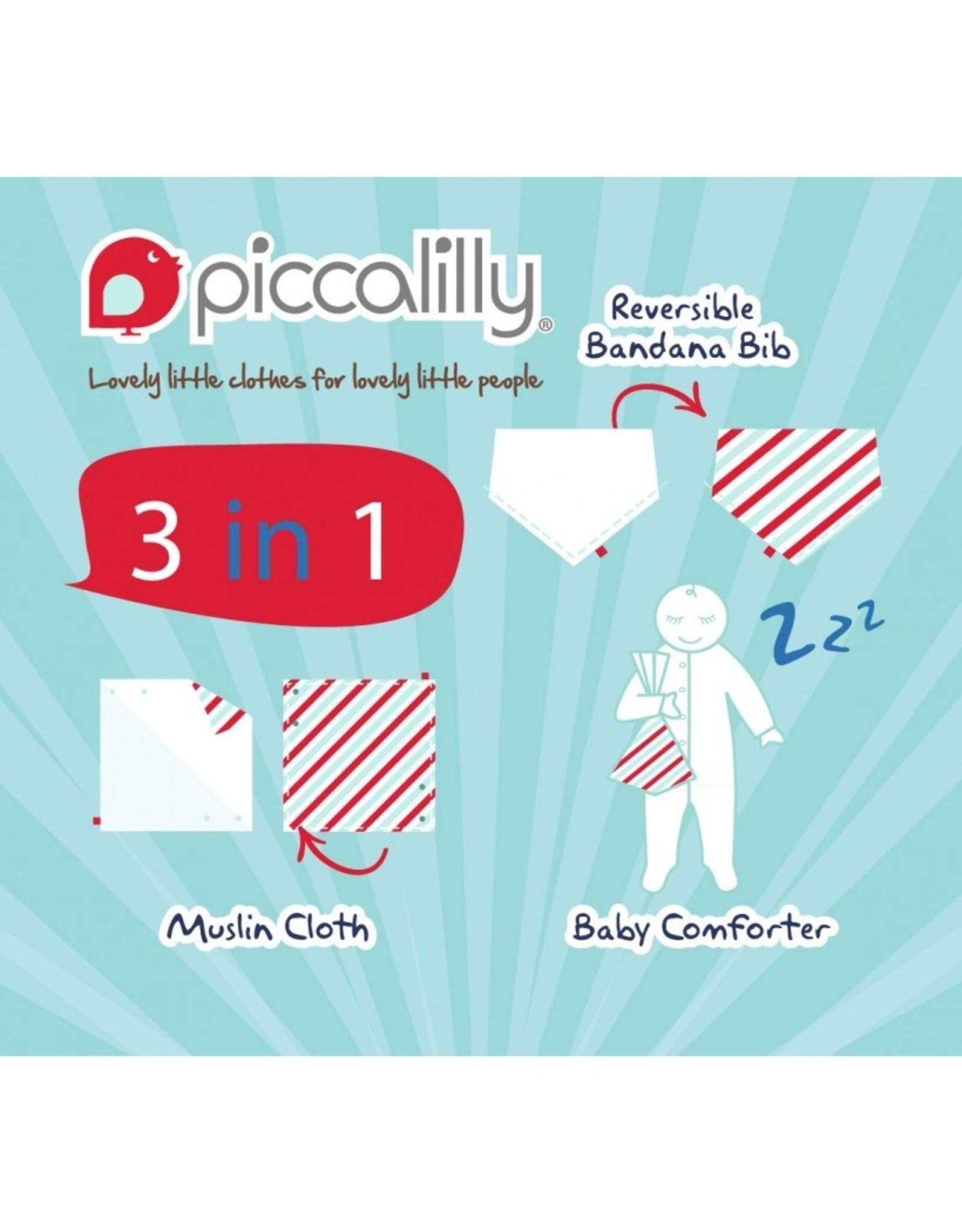 Piccalilly 2-in-1 Muslin Bandana Bib & Burp Cloth -Magical Dragon