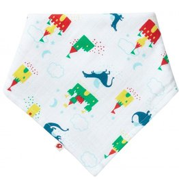Piccalilly 2-in-1 Muslin Bandana Bib & Burp Cloth -Magical Dragon