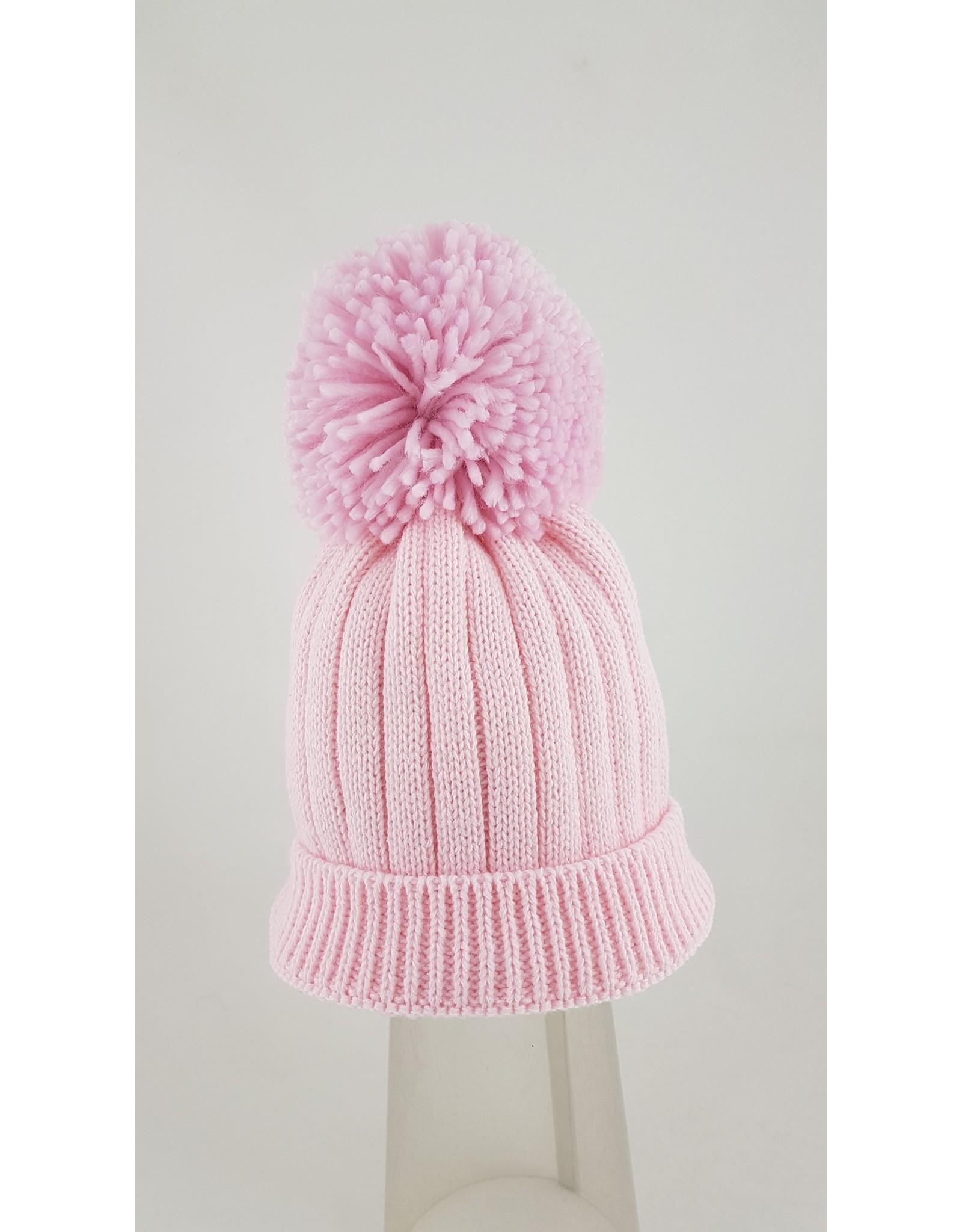 Pesci Pesci Pom Pom Hat- Pink -Blue