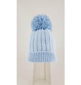 Pesci Pesci Pom Pom Hat- Blue