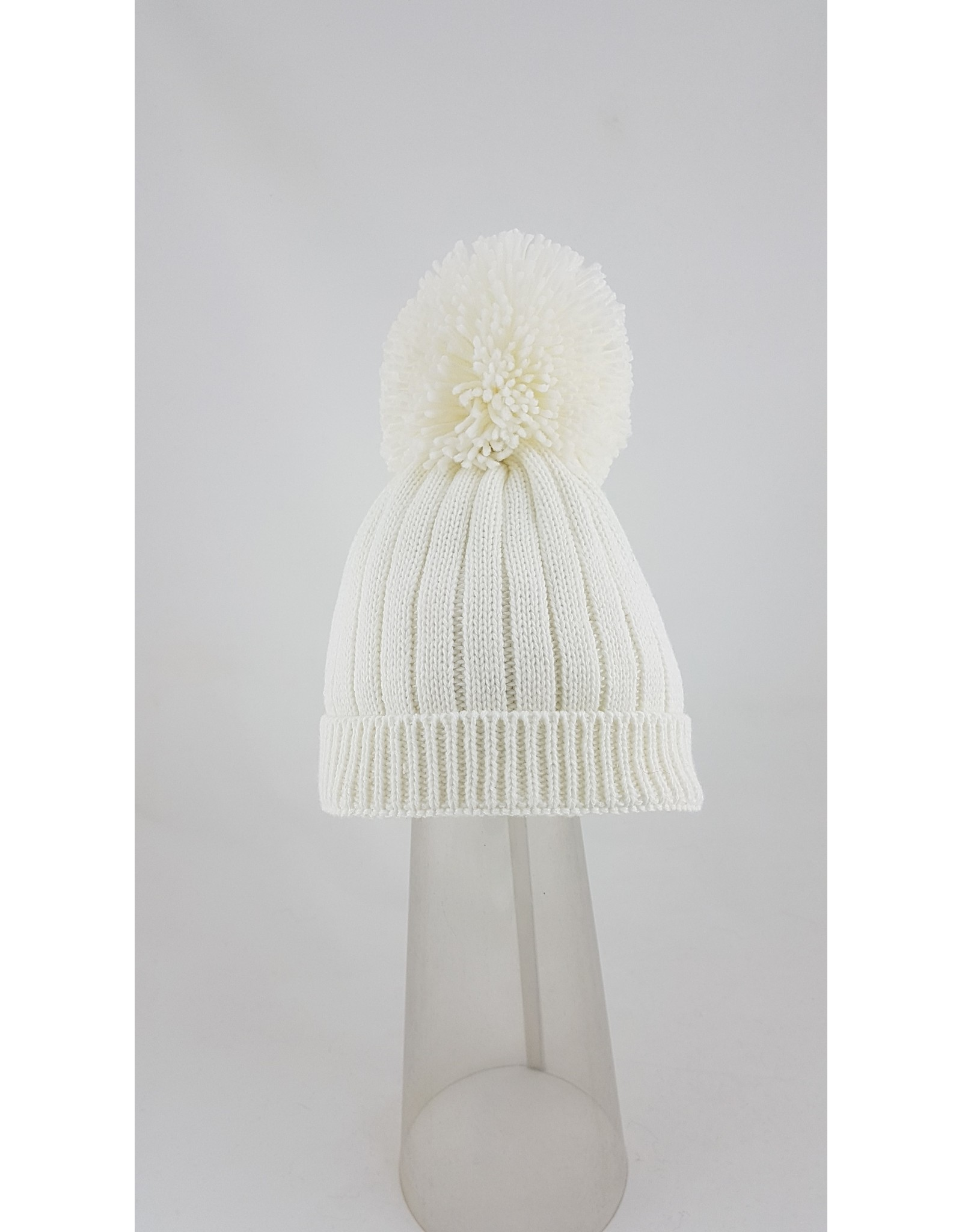 Pesci Pesci Pom Pom Hat-White