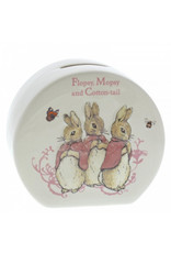 Enesco Flopsy, Mopsy and Cotton-tail Money Box