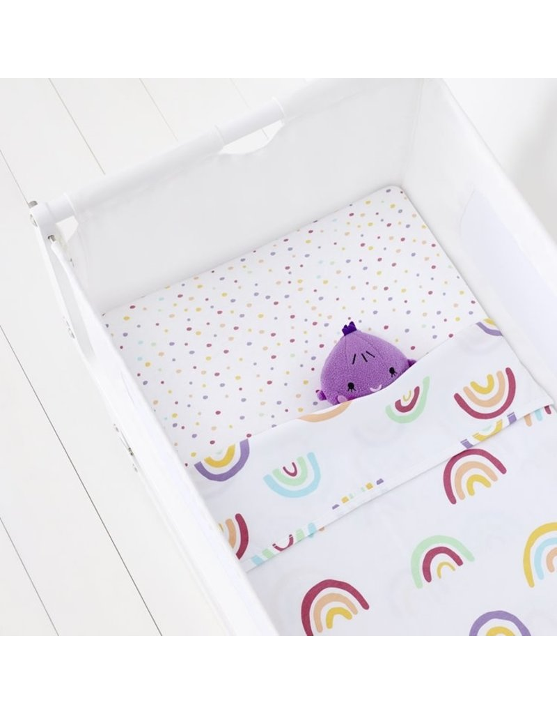 Crib 2 Pack Fitted Sheets – Rainbow