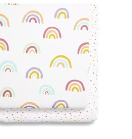 Crib 2 Pack Fitted Sheets –Rainbow