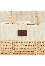 Little Green Sheep Natural Knitted Moses Basket & Mattress - Linen