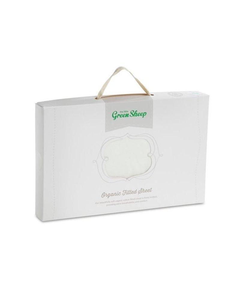 Little Green Sheep Organic Moses Basket Fillted Sheet - White