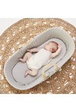 Little Green Sheep Organic Moses Basket Fitted Sheet- Dove Grey