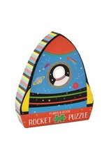 Rocket 12 Piece Shaped Jigsaw in Rocket Shaped Box