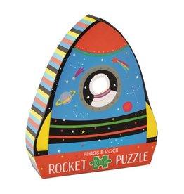 Floss and Rock Rocket 12 Piece Shaped Jigsaw in Rocket Shaped Box