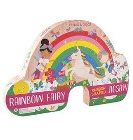 Floss and Rock Rainbow Fairy 80 Piece Shaped Jigsaw Puzzle