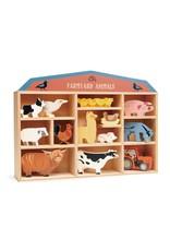 Tender Leaf Toys 13 Farmyard Animals and Shelf