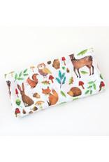 Fox in the Attic Muslin Swaddle Blanket - Woodland