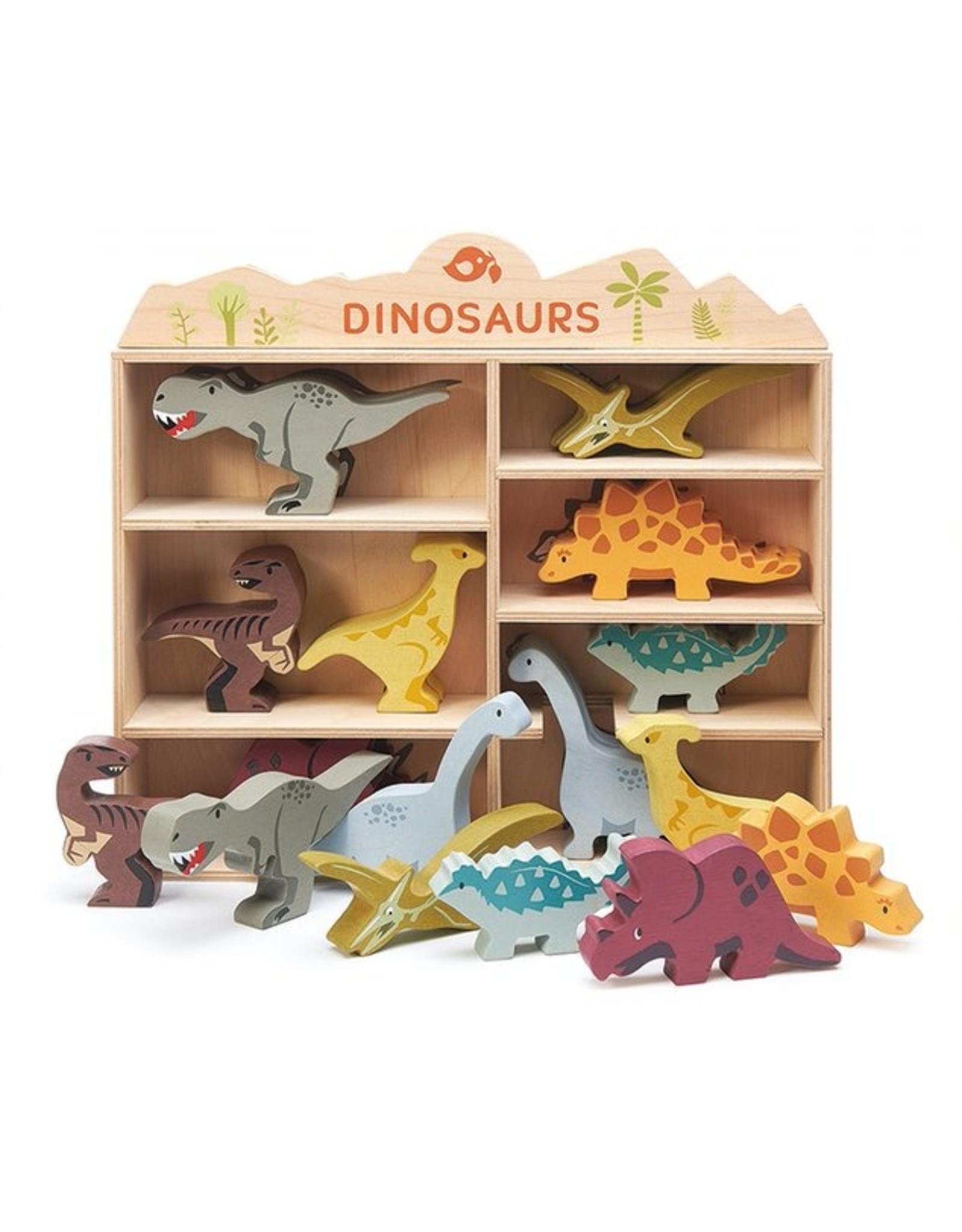Tender Leaf Toys Tender Leaf Toys 8 Dinosaurs and Shelf