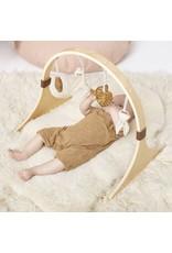 Little Green Sheep Curved Wooden Baby Play Gym  - Safari Giraffe