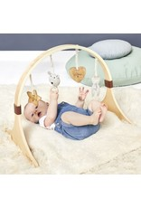 Little Green Sheep Curved Wooden Baby Play Gym - Bear Love