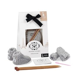 Stitch and Story Sophie La Girafe : Mini Mittens and Booties - Dove Grey
