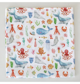 Fox in the Attic Muslin Swaddle Blanket - Sea Life
