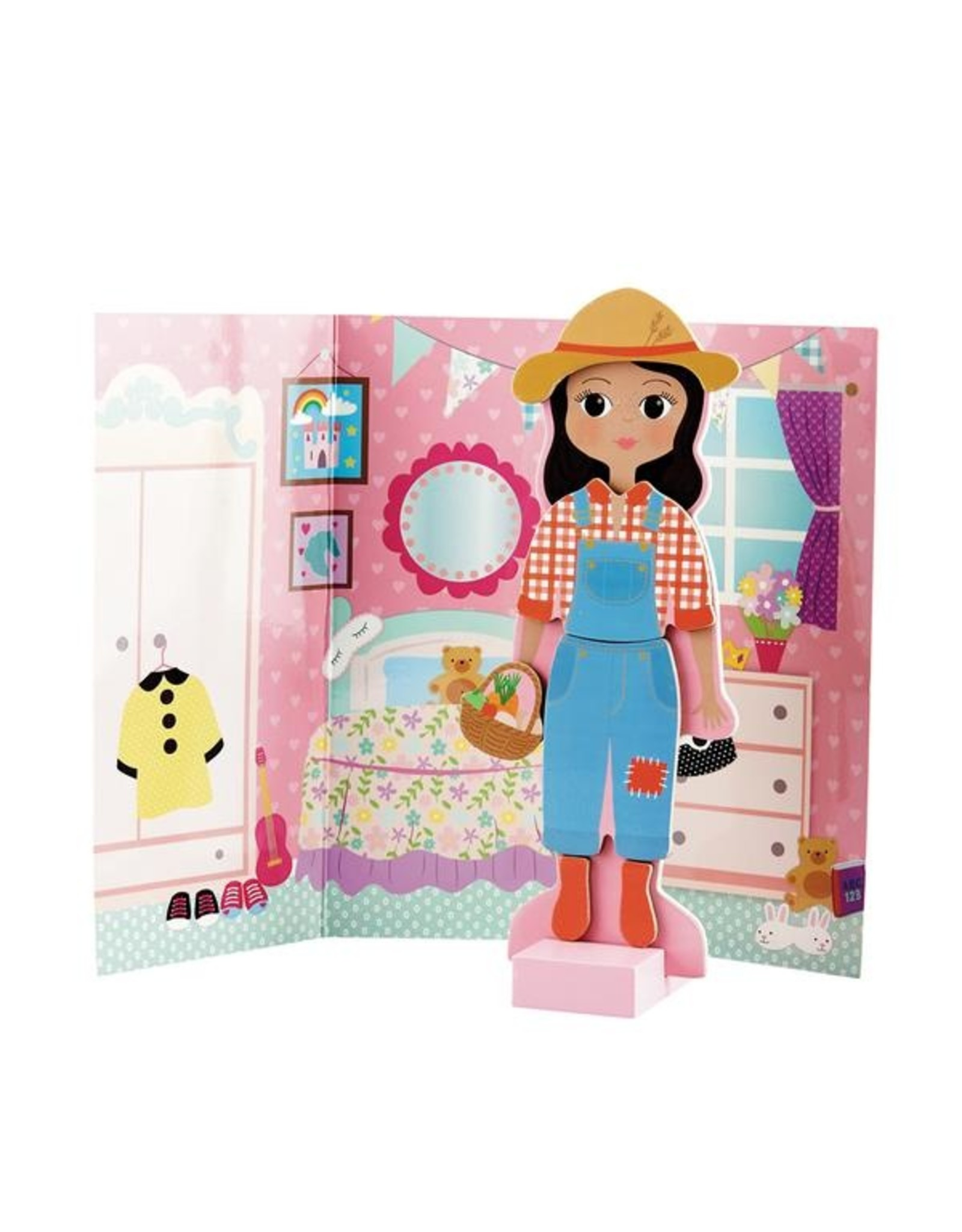 Wooden Magnetic Dress UP Doll - Sophia