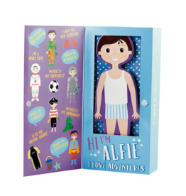 Wooden Magnetic Dress Up Doll - Alfie