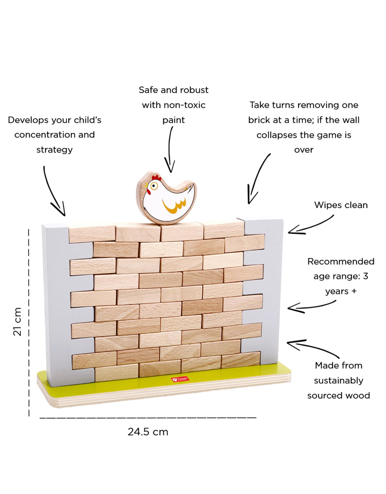 Classic World Classic World Pick a Brick Jenga Style Wall Game