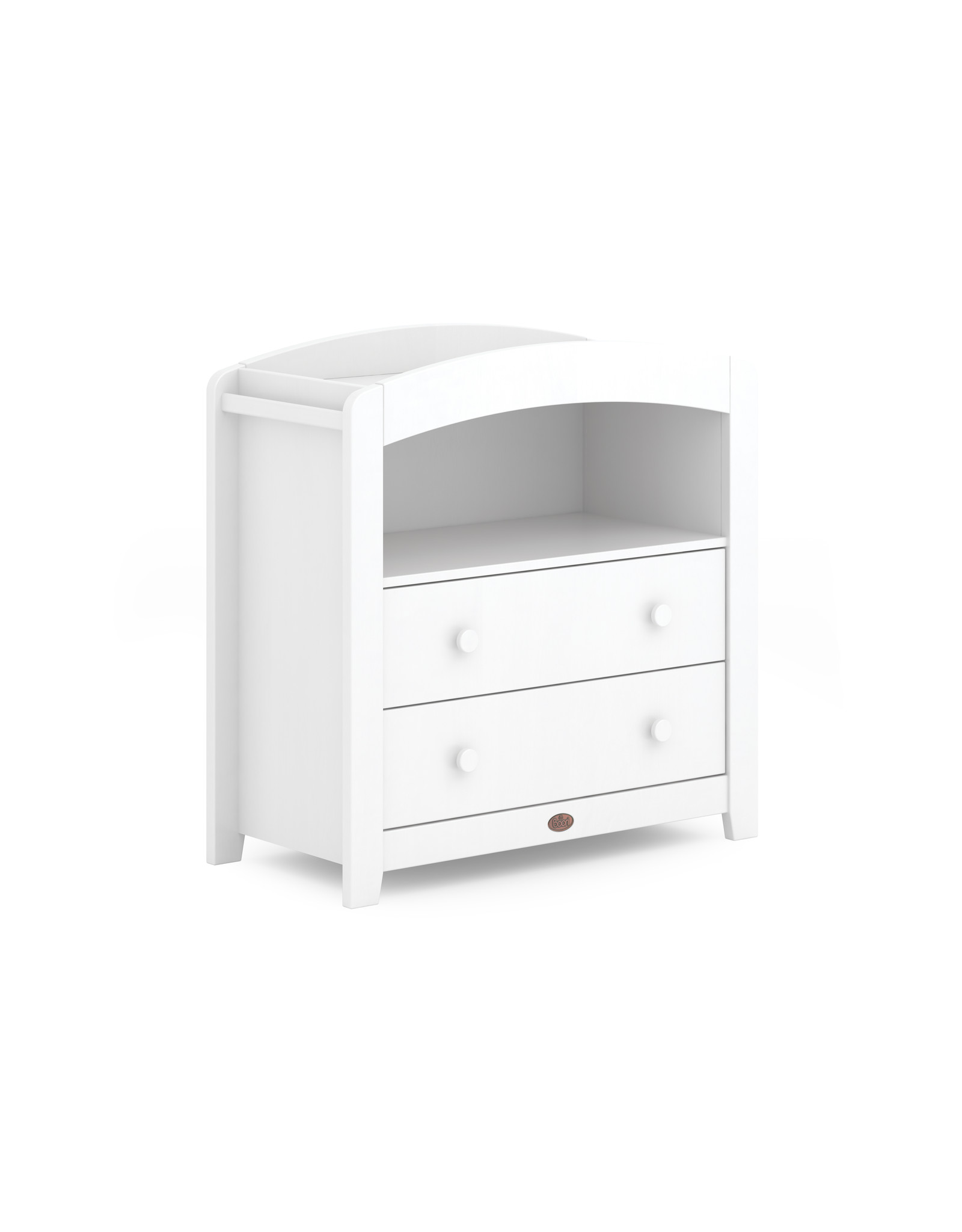 Boori Boori Curved Two Drawer Chest Changer - White
